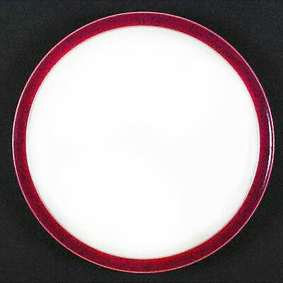 """HARLEQUIN Dinner Plate10"""" RED OUT/ WHITE IN by DENBY ENGLAND NEW NEVER USED"""
