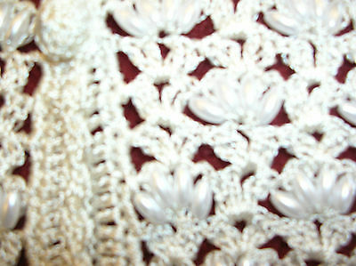 Ladies White Crochet Waistcoat Fronts With Pearls