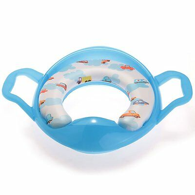 07S8 Blue Pot Toilet Seat Bezel WC reducer with Handle for Baby Child