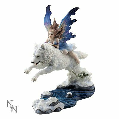 Free Spirit Fairy and Wolf Figurine by Nemesis Now