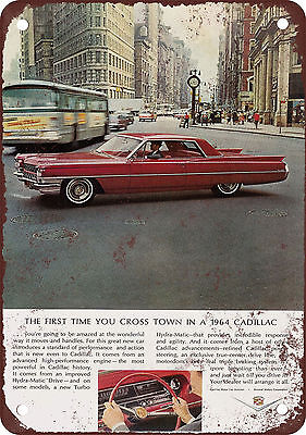 1964 Cadillac Vintage Look Reproduction Metal Sign