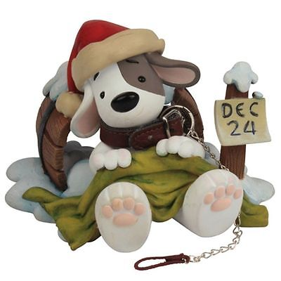 LOST DOG Collectors Figurine - Too Excited To Sleep Christmas gift
