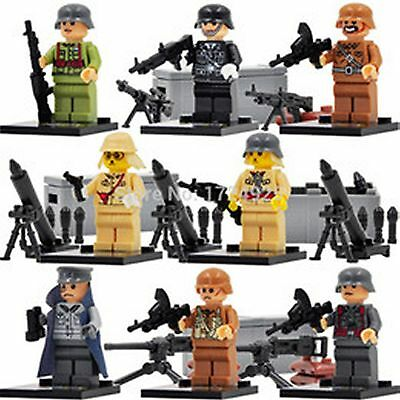 WW2 multinational soldiers minifigures German Japanese with weapons