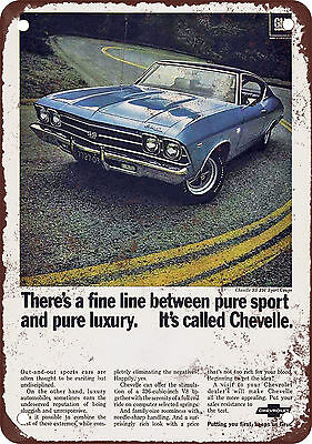 1969 Chevrolet Chevelle Vintage Look Reproduction Metal Sign
