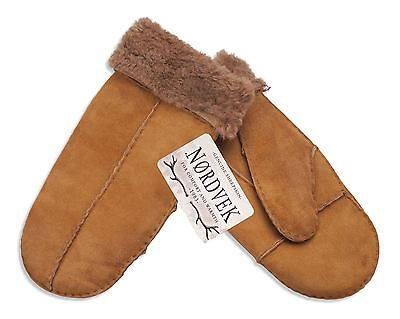 Nordvek Childrens Genuine Sheepskin Mittens Real - Ages 10-16 Years - 326-100