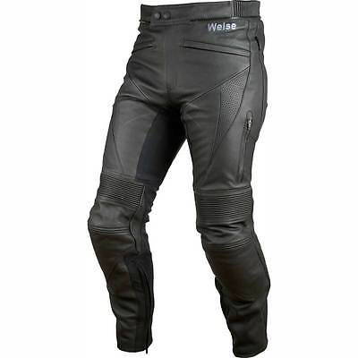 Motorcycle Weise Leather Jeans Hydra WP 42 Black UK Seller