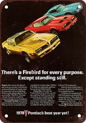 1978 Pontiac Firebird Vintage Look Reproduction Metal Sign