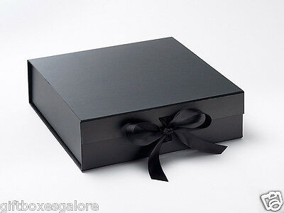 Luxury Gift Box/ Large Black  With Grosgrain Ribbon.