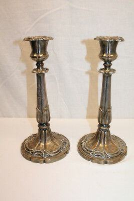 Enchanting 19th Century Pair of English Regency Copper Candlestick Holders
