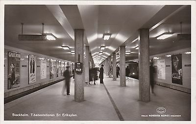 Sweden Stockholm View Of The Subway Real Photo sk3281