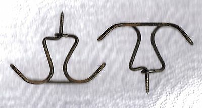 2 Twisted Wire Double Shabby Cottage Primitive Coat Hat Hanger Closet Hooks #2