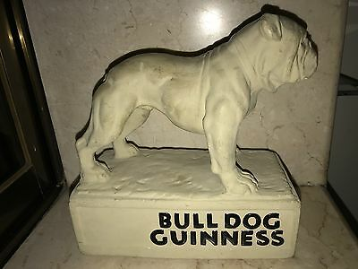 1900s GUINNESS BULLDOG BEER BREWERY ANTIQUE CHALKWARE PUB DISPLAY STATUE FIGURE
