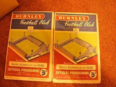 1959/60 BURNLEY V MANCHESTER CITY League Champions of England !!!