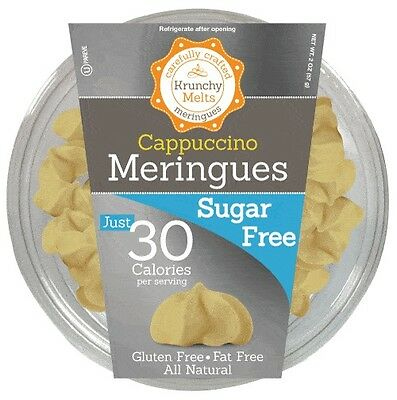 Krunchy Melts Sugar Free Meringues - Cappuccino, Low Carb, Fat Free, Stevia