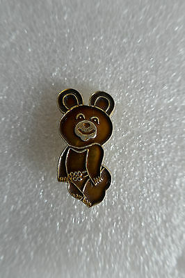 Broche (pin) mascotte ours  Micha JO / Olympic Games Moscou (Moscow) 80 - TBE