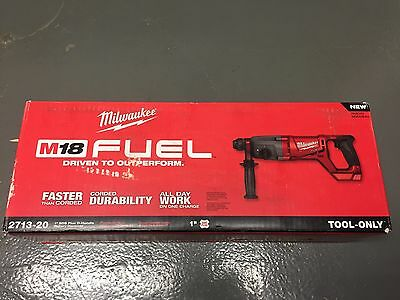 Milwaukee 2713-20 M18 Fuel Cordless D-Handle Rotary Hammer drill Bare NEW SDS 1""