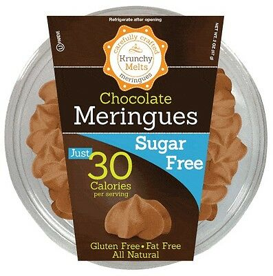 Krunchy Melts Sugar Free Meringues - Chocolate, Low Carb, Fat Free, Stevia