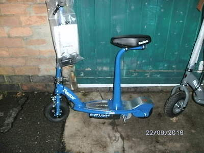 Razor E100s Blue electric scooter with seat