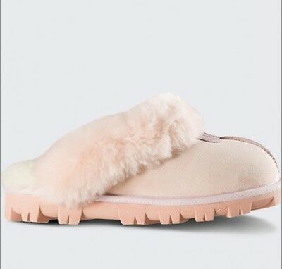 Ugg (TM) Women's Pink Sheepskin Suede Slippers New NWT Size 5, 6, 7,  8, 9