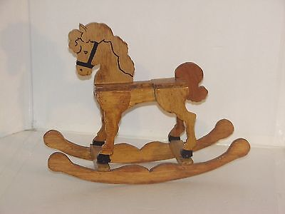 Hand Made Wooden Rocking Toy Horse