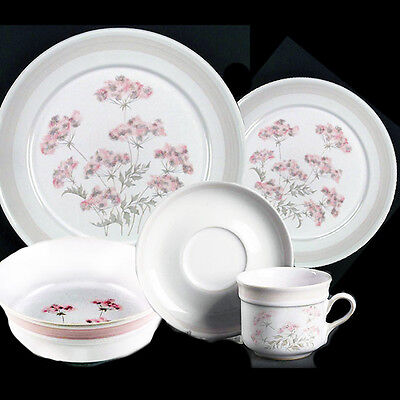 BRITTANY Denby 5 Piece Setting with Cereal NEW NEVER USED made in England