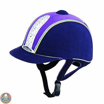 Harry Hall Tg: 57 Cm Blu Legend Plus - Casco Da Equitazione Blu Navy Nuovo