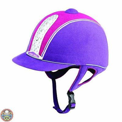 Harry Hall Tg: 59 Cm Viola Legend Plus - Casco Da Equitazione Viola Nuovo