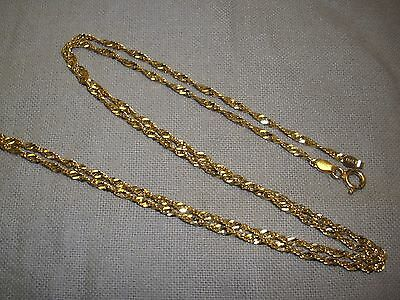 14 k Gold Twist Style Chain 24 Inches