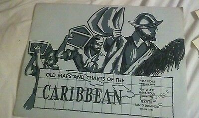 Old maps and charts of caribbean west indies hispanola plan santo domingo