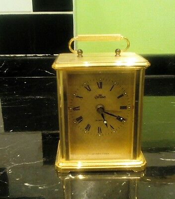 Quartz Coronet Carriage Clock with Alarm Feature.