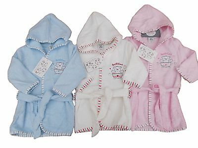 BNWT Baby girls boys unisex terry toweling dressing gown Clothes NB 0-3 m 3-6 m