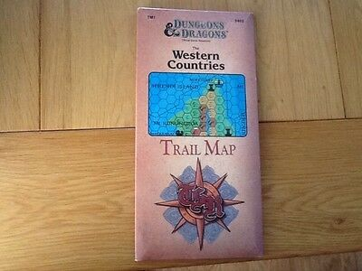 dungeons & dragons western countries trail map rare