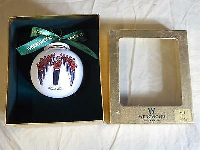 WEDGWOOD Christmas Tree Ornament - 11th Day, 11 Pipers Piping - Perfect In Box