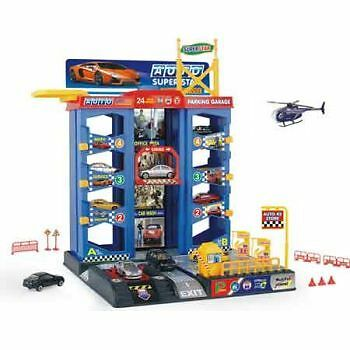 Parking Garage with Diecast Cars - Kids Toy - Presents and Gifts for Children