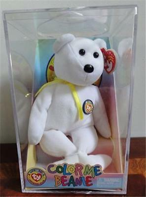 Ty Official Club Color Me Beanie Bear Mwmt Unopened