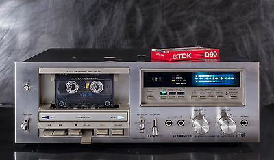 PIONEER CT-F750 Stereo Cassette Deck - Player and Recorder - NEW BELTS