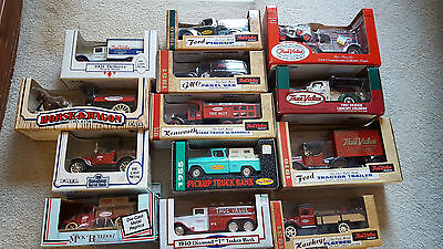 1988-2000 True Value Collectible Truck Banks by Ertl #7-#19 - NIB - Lot of 13