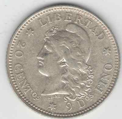 Coins Argentina 1883/2 Silver 20-Cent