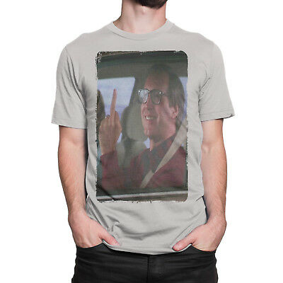 """Clark Griswold """"The Finger"""" Christmas Vacation 100% ring-spun cotton T-shirt"""
