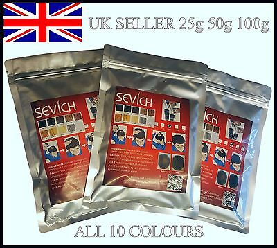 Sevich Natural Keratin Hair Building Thickening Fiber Refill Packs 25 50 100g UK