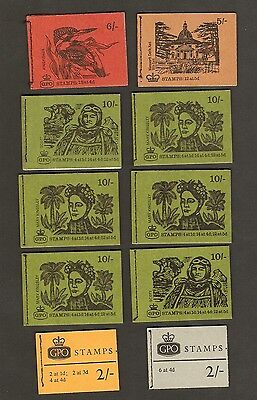 Gb Stamps. Complete Pre Decimal Booklets X 10