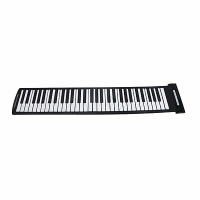 07S8 Portable 61 Keys Flexible Roll-Up Piano USB MIDI Electronic Keyboard Hand