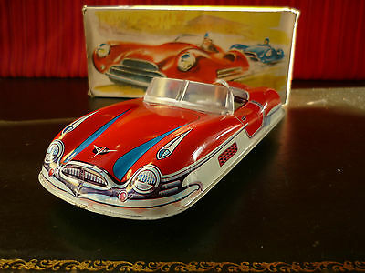Scarce 1950's Wüco Wueco Wünnerlein Tin Friction Cabrio Convertible w/ Or. Box