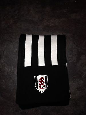 Fulham Black And White Scarf