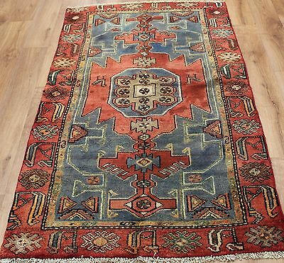 Old Wool Hand Made Persian Oriental Floral Runner Area Rug Carpet 172 X 100Cm