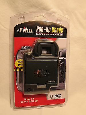 eFilm Pop-Up-Shade from Delkin, snap on Canon EOS 5D - NEW