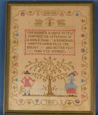 "ANTIQUE SAMPLER BY  or for ""DOROTHY"",  Dated 1928"