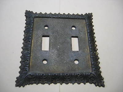 Vintage ***   EDMAR 43-T&T  *** Metal 2-Gang Toggle Switch Wall Plate JAPAN