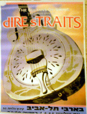 DIRE STRAITS Brothers In Arms ISRAEL HEBREW POSTER