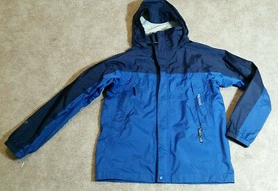 Marmot Blue PreCip Rain Jacket Youth Boys Size Large Hooded Zip Lightweight